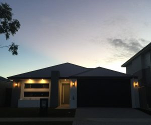 An aesthetically pleasing view of the outside of a home that our electrician in Perth provided.